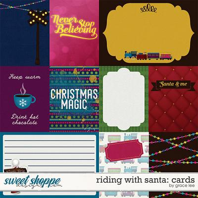 Riding With Santa: Cards by Grace Lee