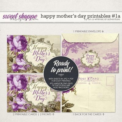 Happy Mother's Day Printable Card And Envelope Purple by On A Whimsical Adventure