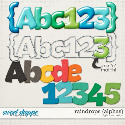 Raindrops {Alphas} by Digilicious Design