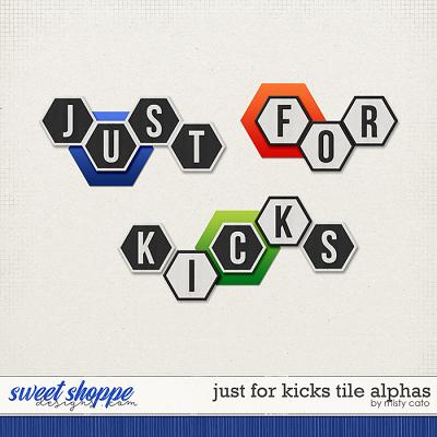 Just for Kicks Tile Alpha by Misty Cato