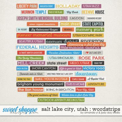 Salt Lake City, Utah Word Strips by Jady Day Studio and Amanda Yi