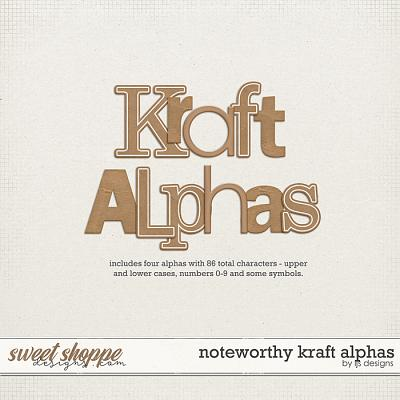Noteworthy Kraft Alphas by LJS Designs