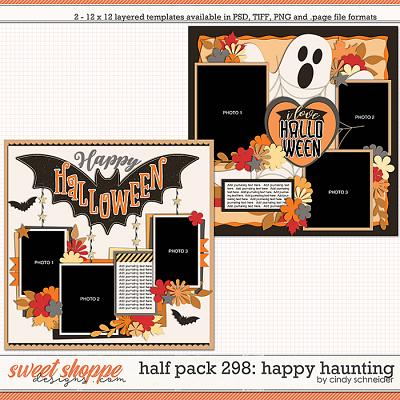 Cindy's Layered Templates - Half Pack 298: Happy Haunting by Cindy Schneider