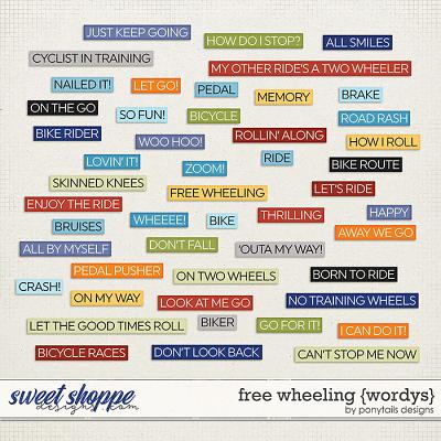 Free Wheeling Wordys by Ponytails