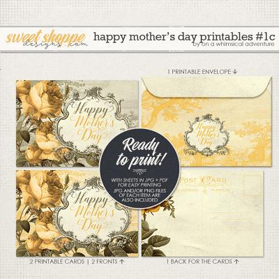 Happy Mother's Day Printable Card And Envelope Yellow by On A Whimsical Adventure