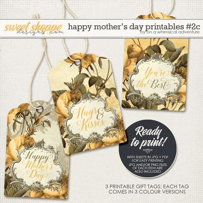 Happy Mother's Day Printable Gift Tags Yellow by On A Whimsical Adventure