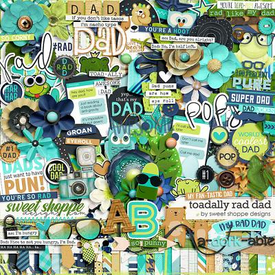 *FREE with your $20 Purchase* Toad-ally Rad Dad by Sweet Shoppe Designs