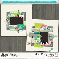 Brook's Templates - Duo 21 - Purty Pile by Brook Magee