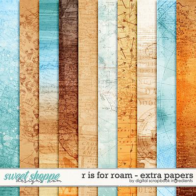 R is for Roam | Extra Papers by Digital Scrapbook Ingredients