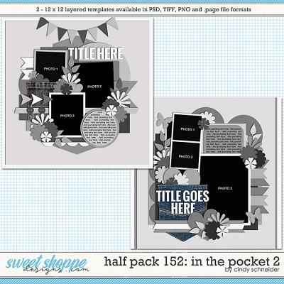 Cindy's Layered Templates - Half Pack 152: In the Pocket 2 by Cindy Schneider
