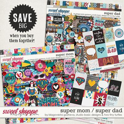 Super Dad + Super Mom Big Bundle by Blagovesta Gosheva, Studio Basic and Two Tiny Turtles