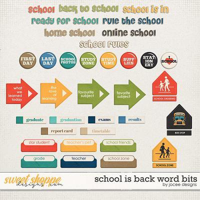 School is Back Word Bits by JoCee Designs