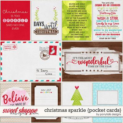 Christmas Sparkle Pocket Cards by Ponytails
