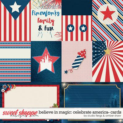 Beleive in Magic: Celebrate America Cards by Amber Shaw & Studio Flergs