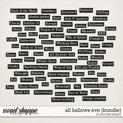 All Hallows' Eve Wordys by Ponytails