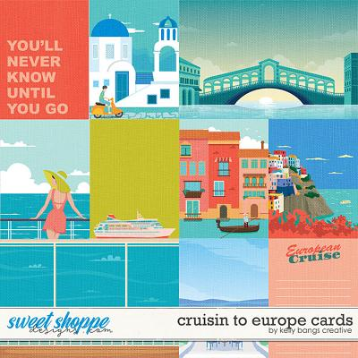 Cruisin to Europe Cards by Kelly Bangs Creative