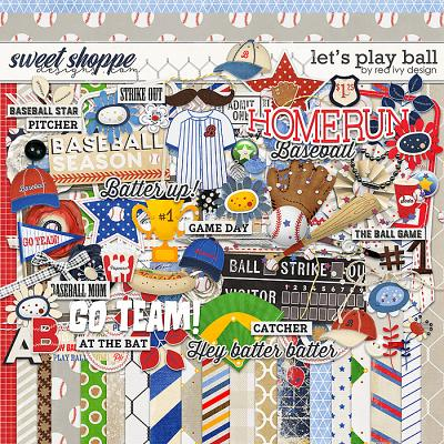Let's Play Ball by Red Ivy Design