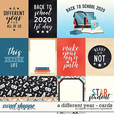 A Different Year | Cards by Digital Scrapbook Ingredients