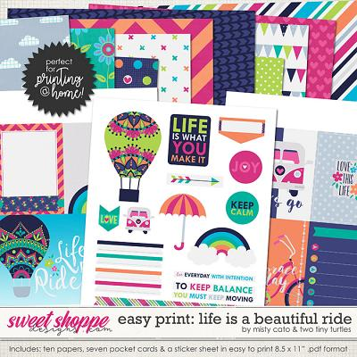 Easy Print: Life is a Beautiful Ride by Misty Cato and Two Tiny Turtles