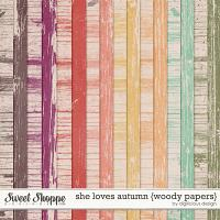 She Loves Autumn {Woody Papers} by Digilicious Design