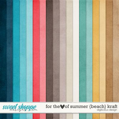 For the Love of Summer {Beach} Kraft by Digilicious Design
