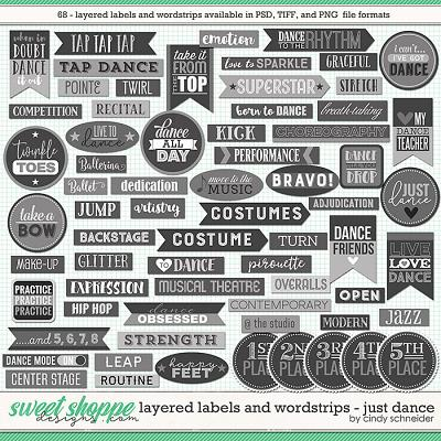 Cindy's Layered Labels and Wordstrips: Just Dance by Cindy Schneider
