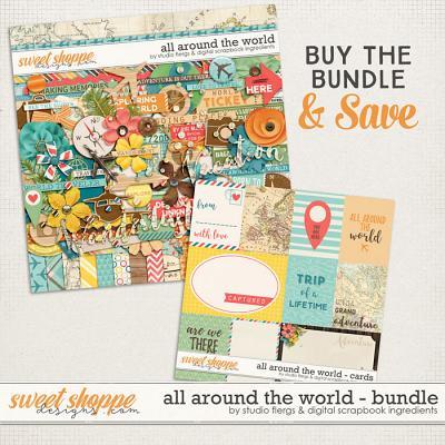 All Around the World: BUNDLE by Studio Flergs & Digital Scrapbook Ingredients