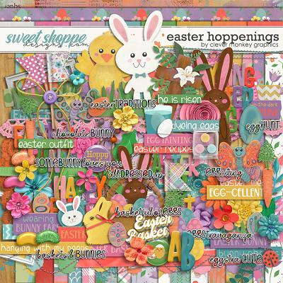 Easter Hoppenings by Clever Monkey Graphics