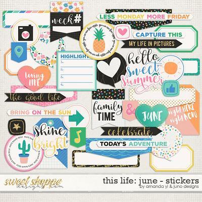 This Life: June - Stickers by Amanda Yi & Juno Designs