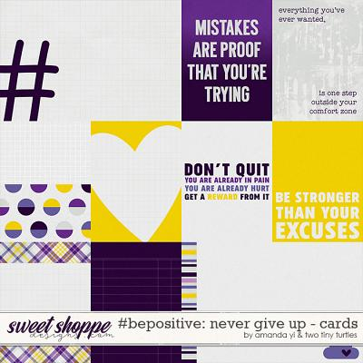 #Be Positive: Never Give Up Cards by Amanda Yi & Two Tiny Turtles