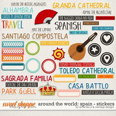 Around the world: Spain - Stickers by Amanda Yi & WendyP Designs