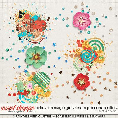 Believe in Magic: Polynesian Princess SCATTERZ by Studio Flergs