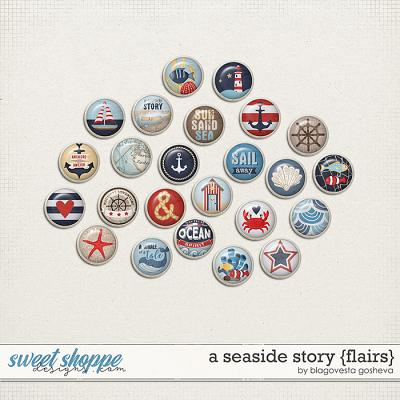 A Seaside Story {flairs} by Blagovesta Gosheva (FREE if you buy A Seaside Stories Bundle!)