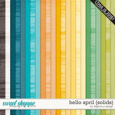 Hello April {Solids} by Digilicious Design