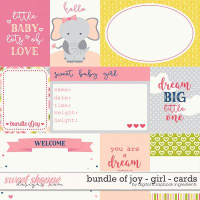 Bundle Of Joy - Girl | Cards by Digital Scrapbook Ingredients
