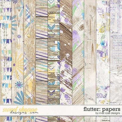 Flutter: Papers by River Rose Designs