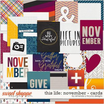 This Life: November - Cards by Amanda Yi & Juno Designs