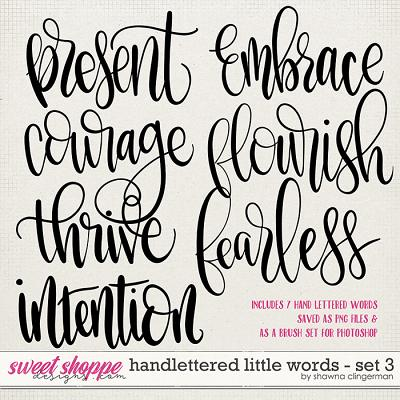 Handlettered Little Words - Set 3 by Shawna Clingerman