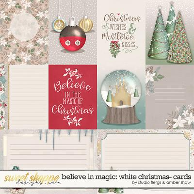 Believe in Magic: White Christmas Cards by Amber Shaw & Studio Flergs