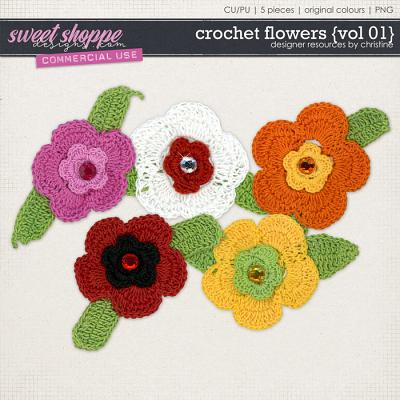Crochet Flowers {Vol 01} by Christine Mortimer