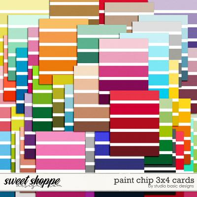 Paint Chip 3x4 Cards by Studio Basic