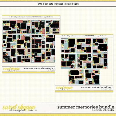 Cindy's Layered Templates - Summer Memories Bundle by Cindy Schneider