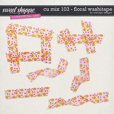 CU Mix 103 - Floral Washitape by WendyP Designs