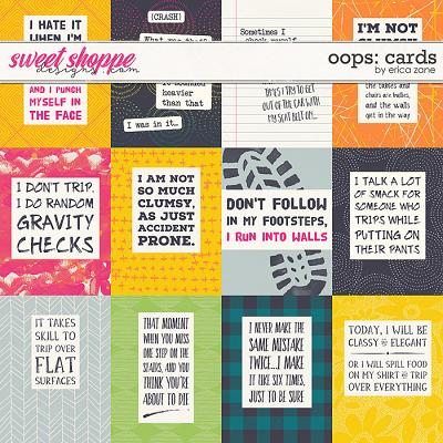 Oops Cards by Erica Zane