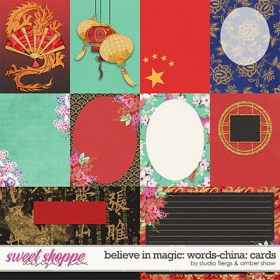 Believe in Magic: Worlds - China Cards by Amber Shaw & Studio Flergs