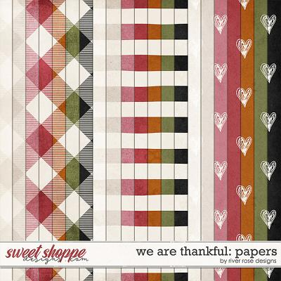 We Are Thankful: Papers by River Rose Designs