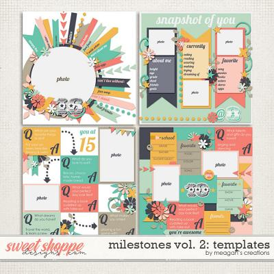 Milestones Volume 2: Templates by Meagan's Creations