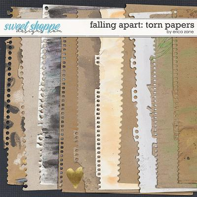 Falling Apart: Torn Papers by Erica Zane