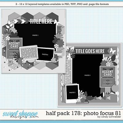 Cindy's Layered Templates - Half Pack 178: Photo Focus 81 by Cindy Schneider