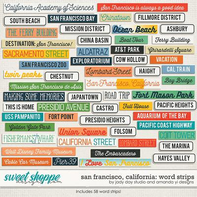 San Francisco, California : Word Strips by Jady Day Studio & Amanda Yi